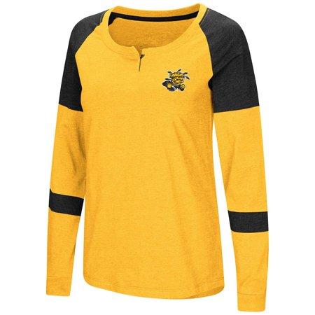 - Womens Wichita State Shockers Long Sleeve Raglan Tee Shirt - M