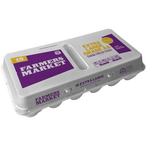 Farmers Market Extra Large Grade AA Eggs, 18 ct
