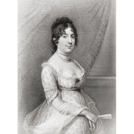 Dolley Payne Todd Madison 1768 To 1849 Wife Of James Madison Fourth President Of The United States From A 19Th Century Engraving After A Painting By Gilbert Stuart Canvas Art   Ken Welsh  Design Pics