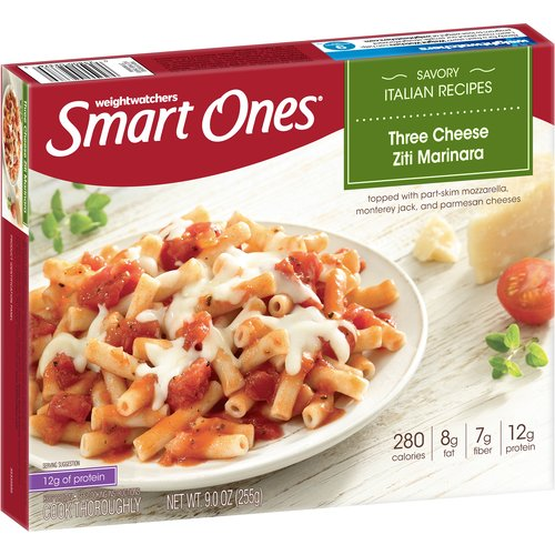 Weight Watchers Smart Ones Three Cheese Ziti Marinara, 9 oz