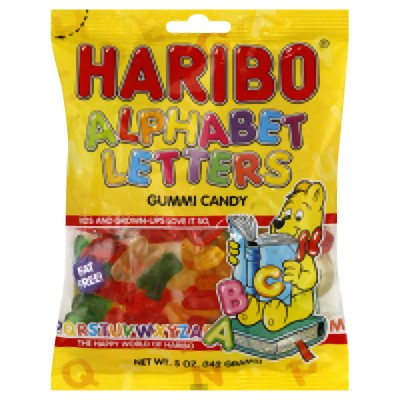 (3 Pack) Haribo, Alphabet Letters Candy, 5 Oz