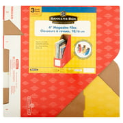"""Fellowes Banker's Box 4"""" Magazine File, Primary Colors, 3pk"""