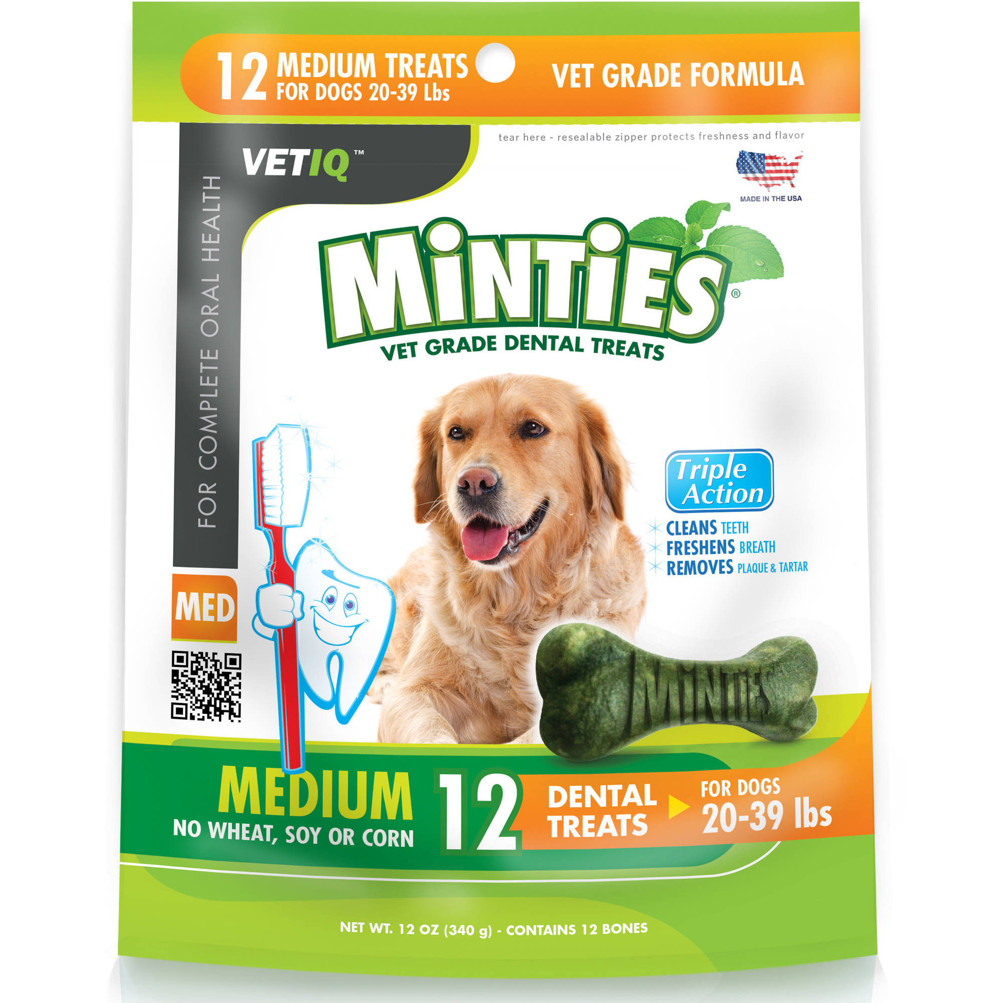 Minties from VetIQ Medium Dog Dental Treats, 12 oz