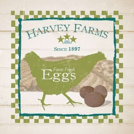 - Harvey Farms Eggs Poster Print by Diane Stimson