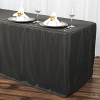 Efavormart Fitted 8 Feet Tablecloths for Kitchen Dining Catering Wedding Birthday Party Decorations Events