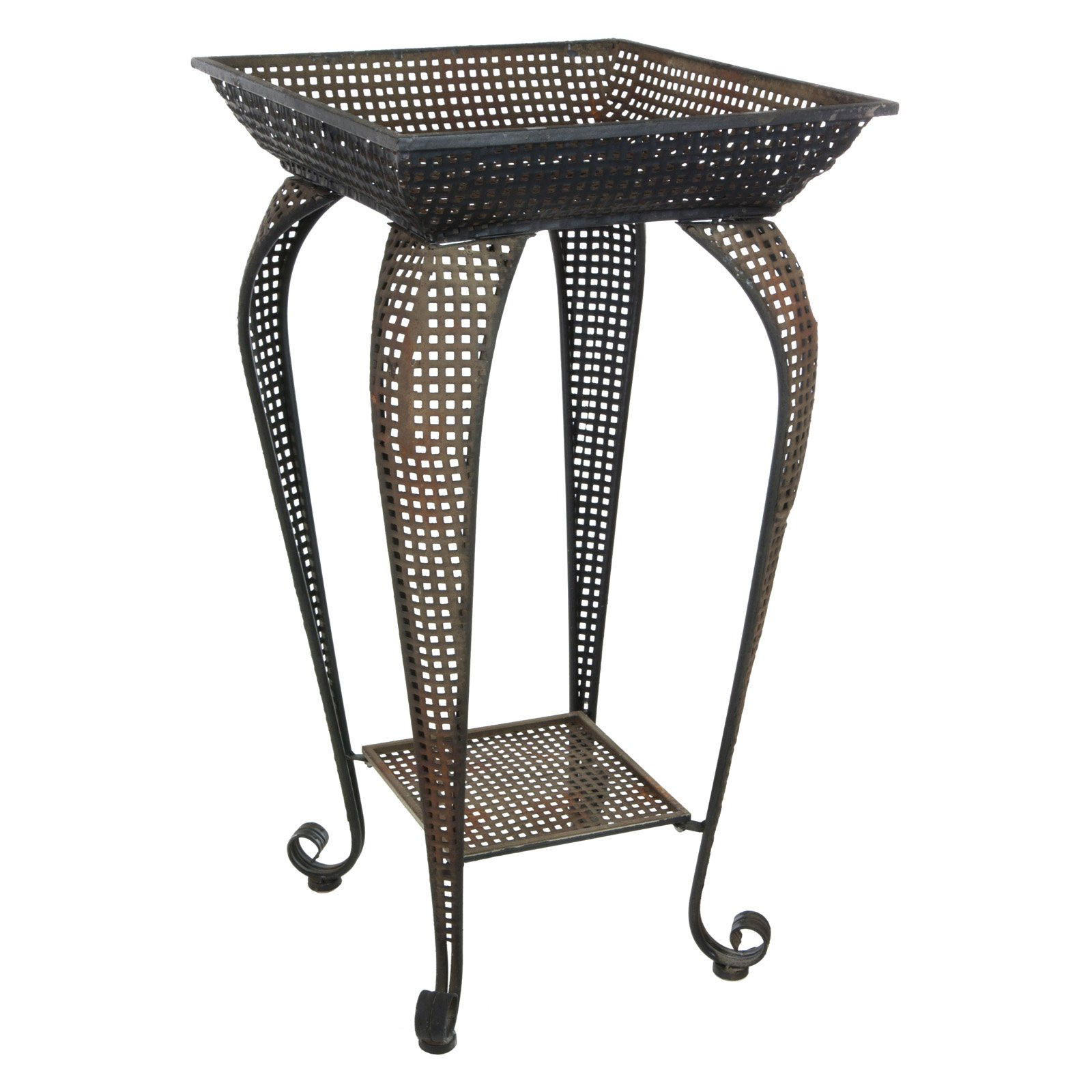 Oriental Furniture Perforated Square Plant Stand by Oriental Furniture