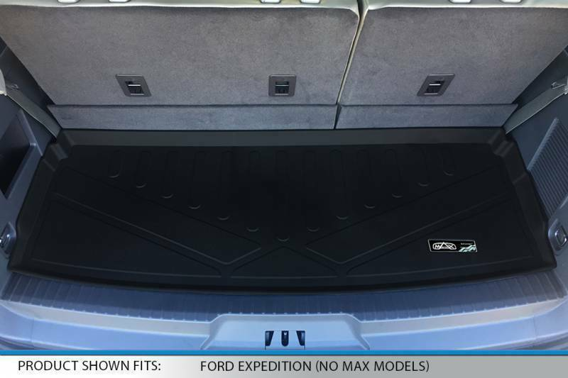 MAXLINER All Weather Cargo Liner Floor Mat Behind 2nd Row Black for 2018 Ford Expedition Max Only