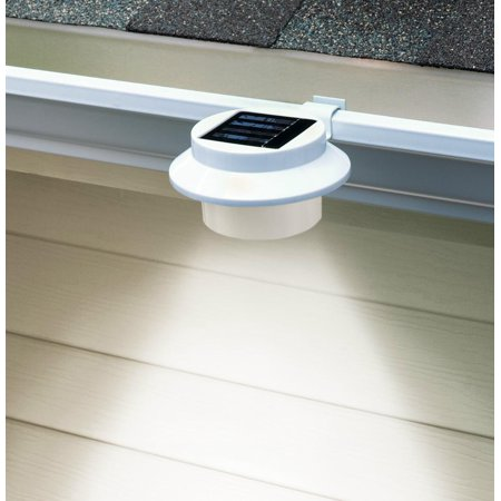 Solar Led Light   Sun Powered Energy Saving Night Utility Security Lamp Portable For Indoor Outdoor Any House Yard Gutter Fence Garden Garage Shed Walkways Stairs Anywhere Safety Lighting In White