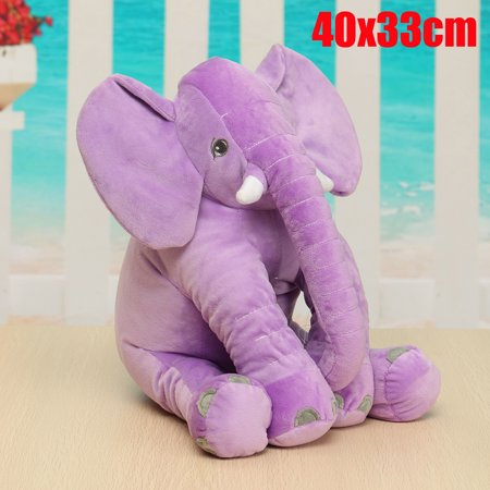 Long Nose Stuffed Plush Soft Elephant Lumbar Cushion For Kids Baby Children Birthday Gifts Toy 16x13