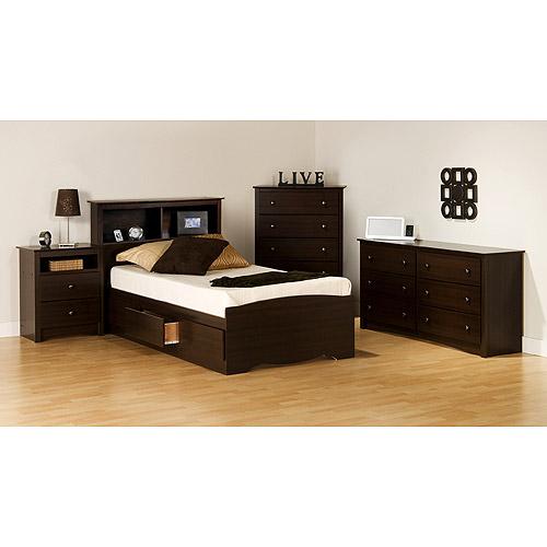 Prepac Edenvale Collection 5 Piece Twin Bedroom Set, Espresso   Walmart.com