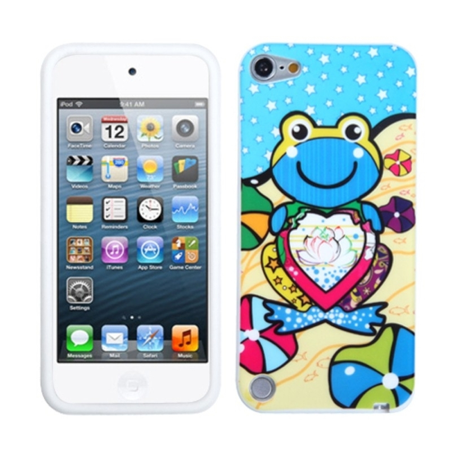 INSTEN Blue Lotus Frog Skin Cover Case For iPod Touch 6 6th 5 5th Gen