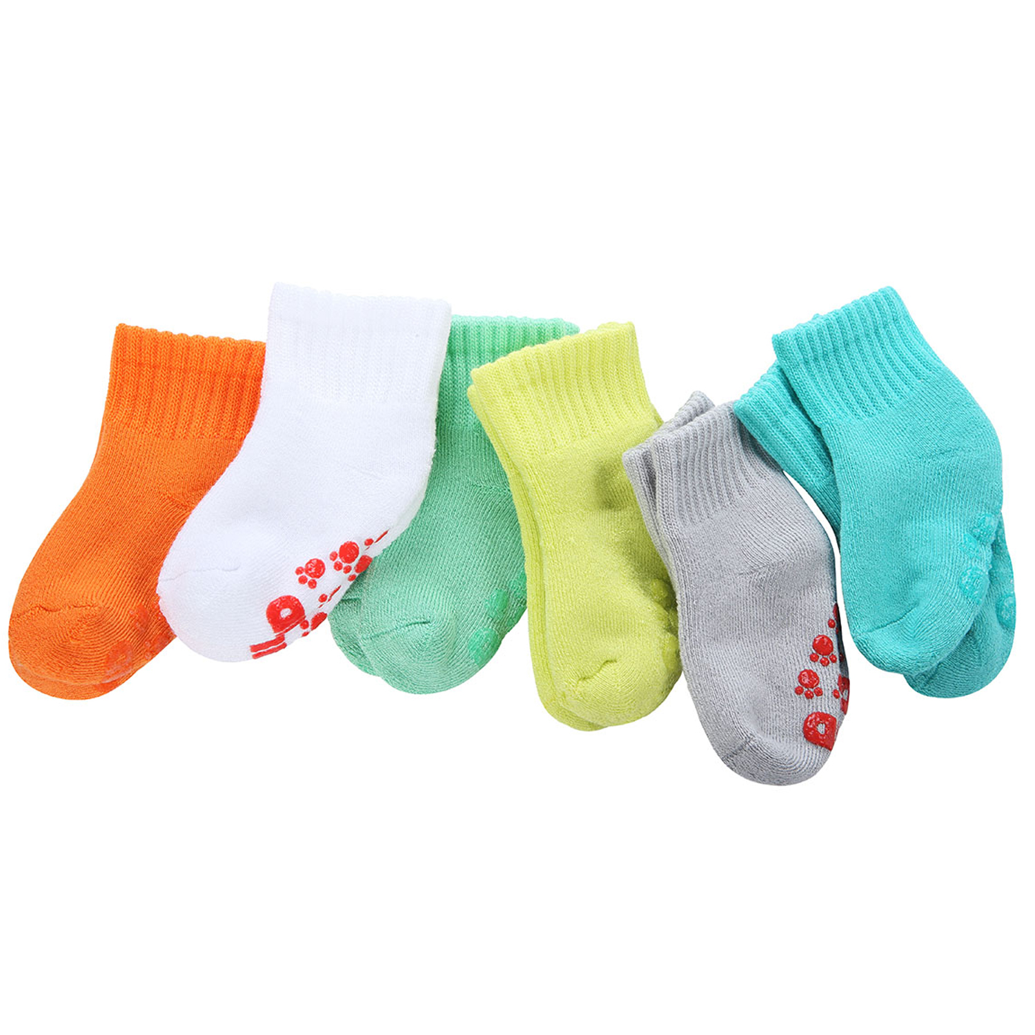 +MD 6 Pairs Baby Bamboo Socks Ultra Soft Full Cushioned Warm Infant Toddler Non-Skid Socks