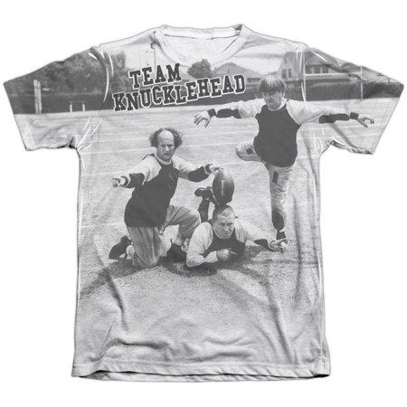 Three Stooges Men's  Team Knucklehead Sublimation T-shirt White](Three Stooges Golf)