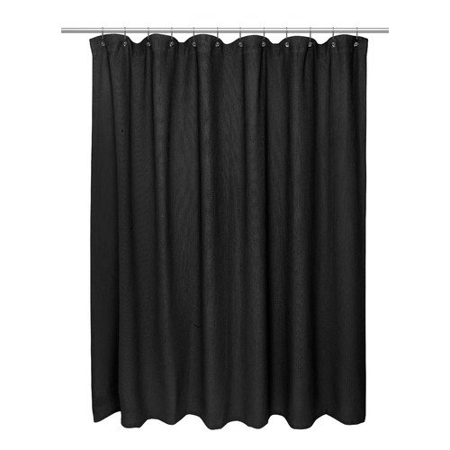 Extra Long Size 100 Cotton Waffle Weave Shower Curtain Pewter