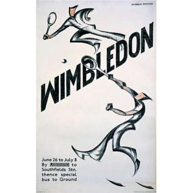 Bentley Global Arts PDX294625LARGE Wimbledon Poster Print by Sybil Andrews, 24 x 36 - Large