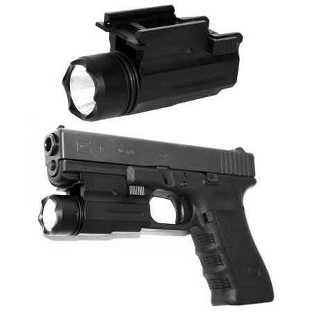 Flashlight with Quick Release Mount QD Weaver Picatinny Mount Base Rail.