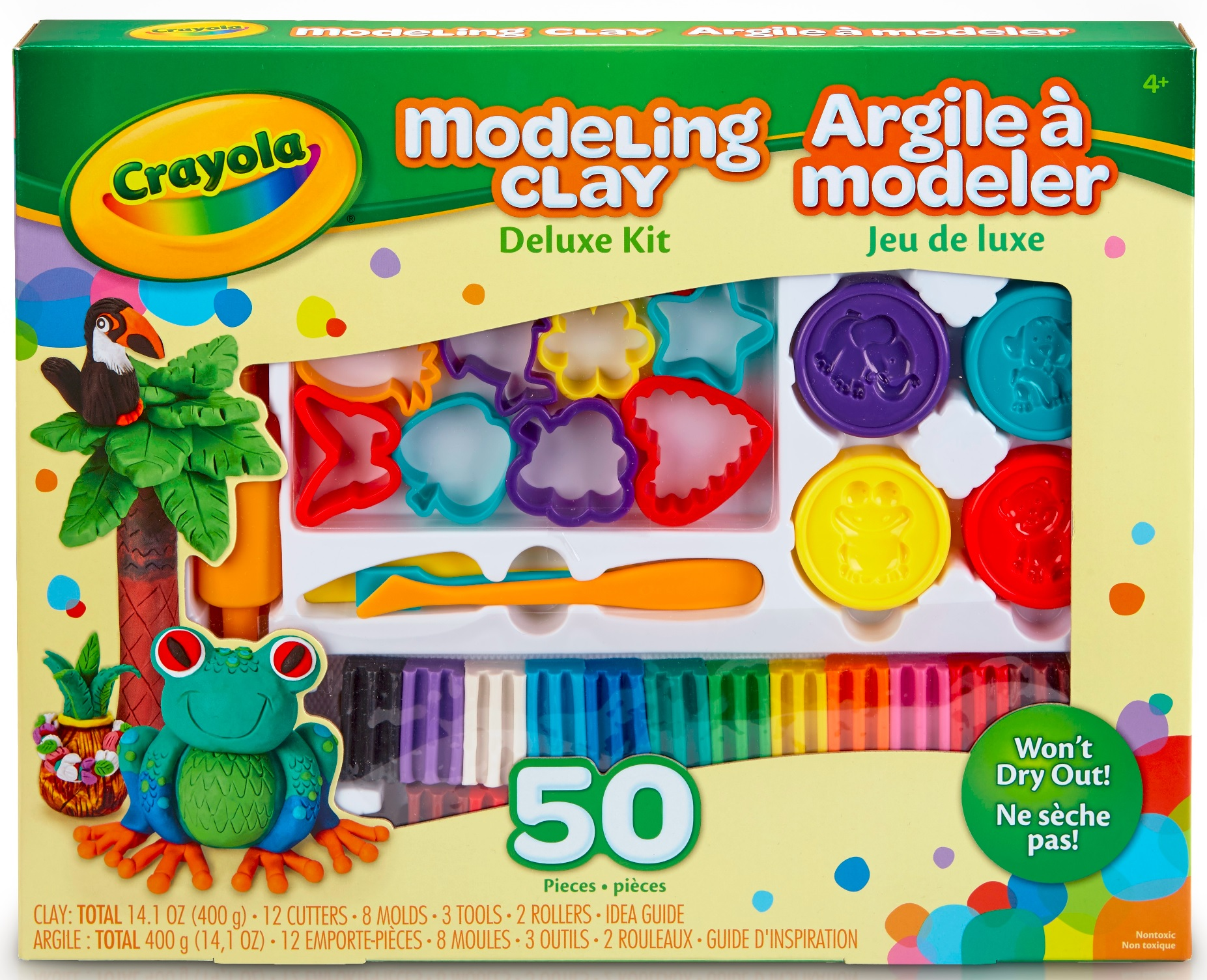 Crayola Modeling Clay Deluxe Kit 4+, 50 count by Crayola