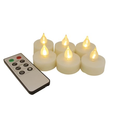 Giftgarden 12 Pack Led Flameless Tea Light Wax Candles With Remote Control Reaic Unscented Fake