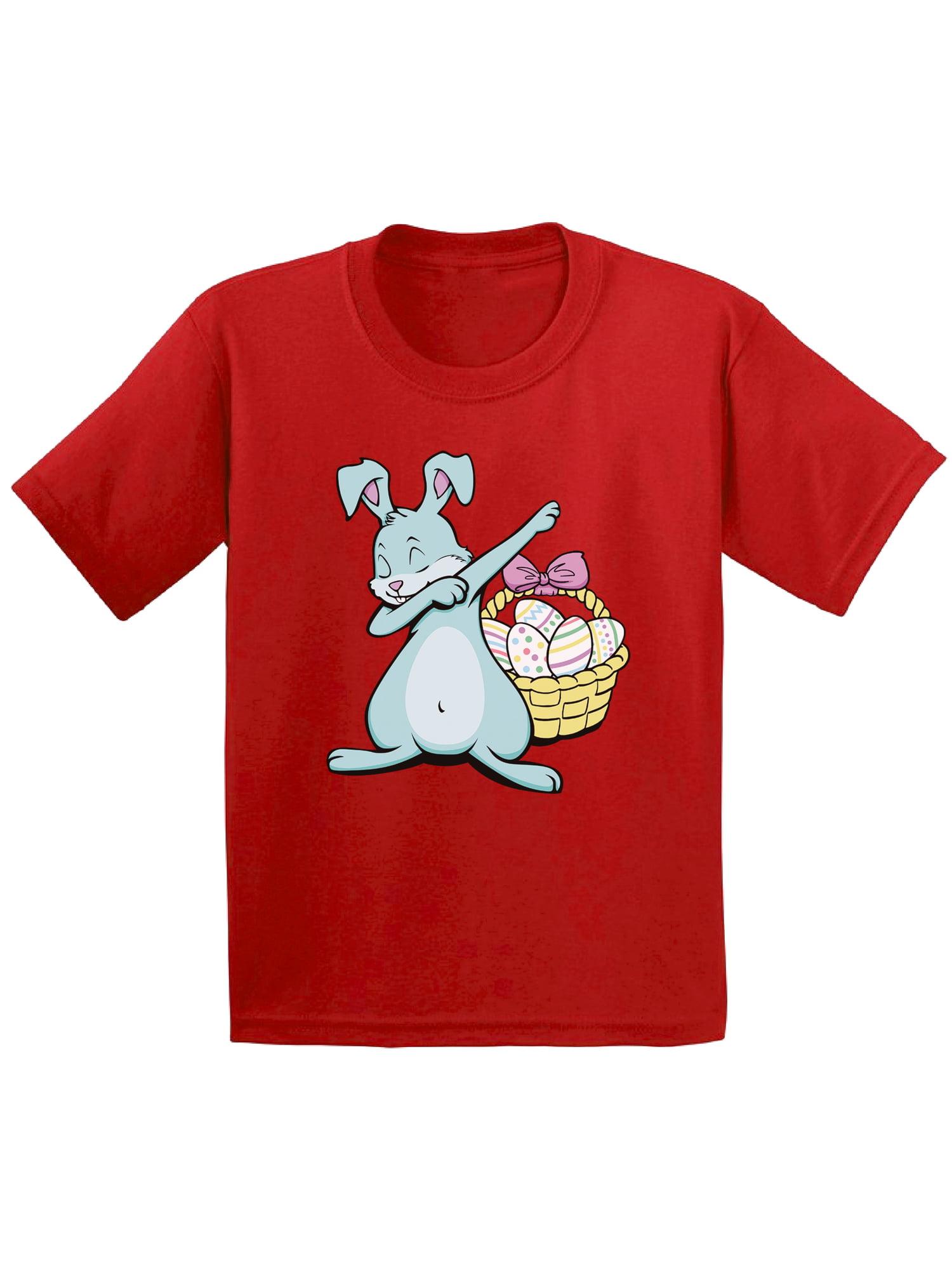 Awkward Styles Dabbing Easter Bunny Shirt for Toddlers Easter Bunny Tshirt Easter Shirt for Boys Happy Easter Easter Gifts for Girls Easter Bunny T Shirts Easter Holiday Shirts Easter Basket Stuffers