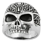 Hellfire Jewelry HellFire Sterling Silver Road Knight Skull Ring