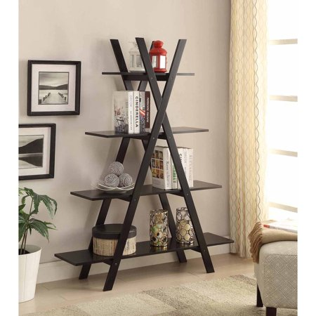 "Convenience Concepts Oxford ""A"" Frame Bookshelf, Multiple Finishes"