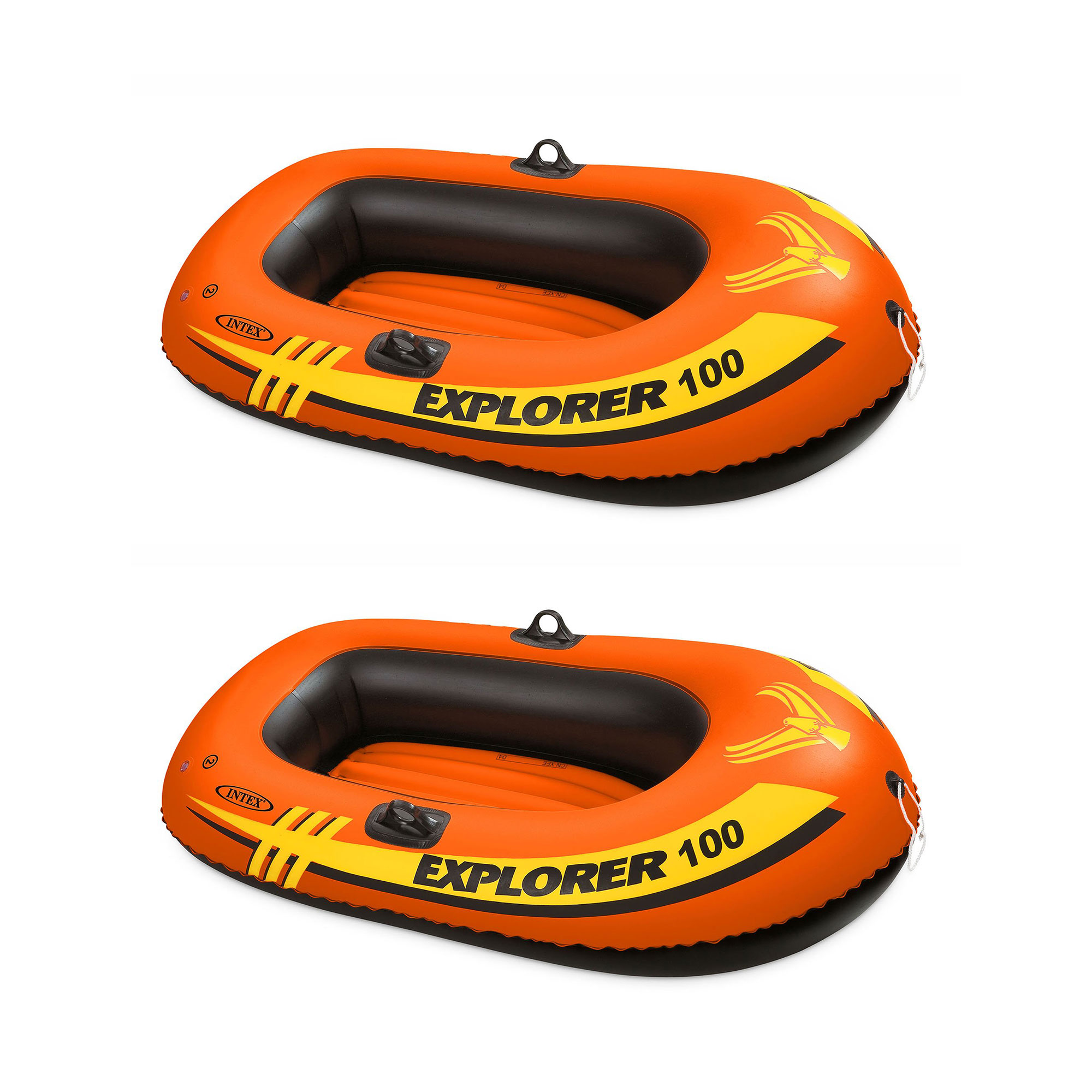 Intex Explorer 100 1 Person Youth Pool Lake Inflatable Raft Row Boat (2 Pack)