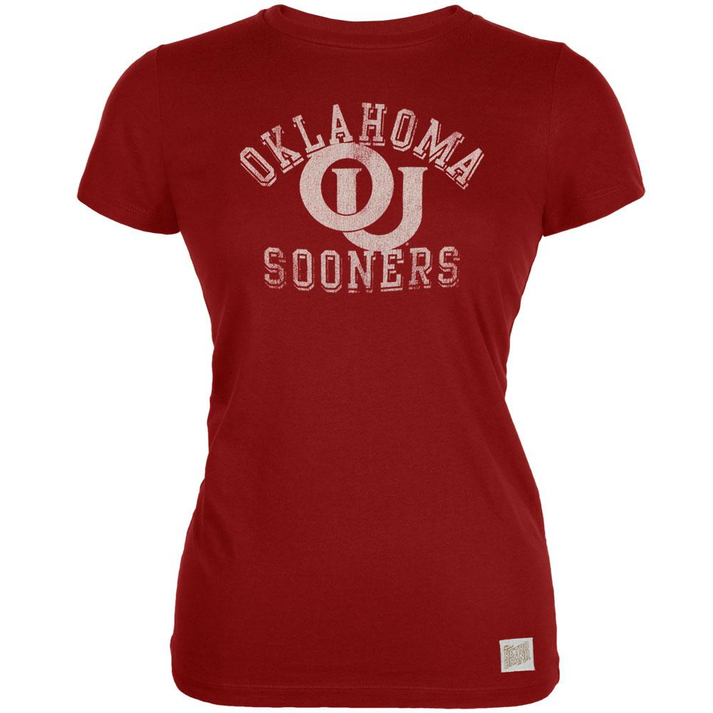 Oklahoma Sooners - Distressed Letters Vintage Juniors T-Shirt