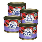 (4 Pack) Early California Ripe Olives, Sliced, 2.25 Oz