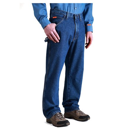 wrangler men's fire-resistant riggs jeans carpenter relaxed fit - (Imperial Denim)