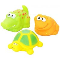 Vital Baby Play n Splash Jungle Critter Friends Bathtime Toys - 3 Packs Of 3 Count = 9 Count