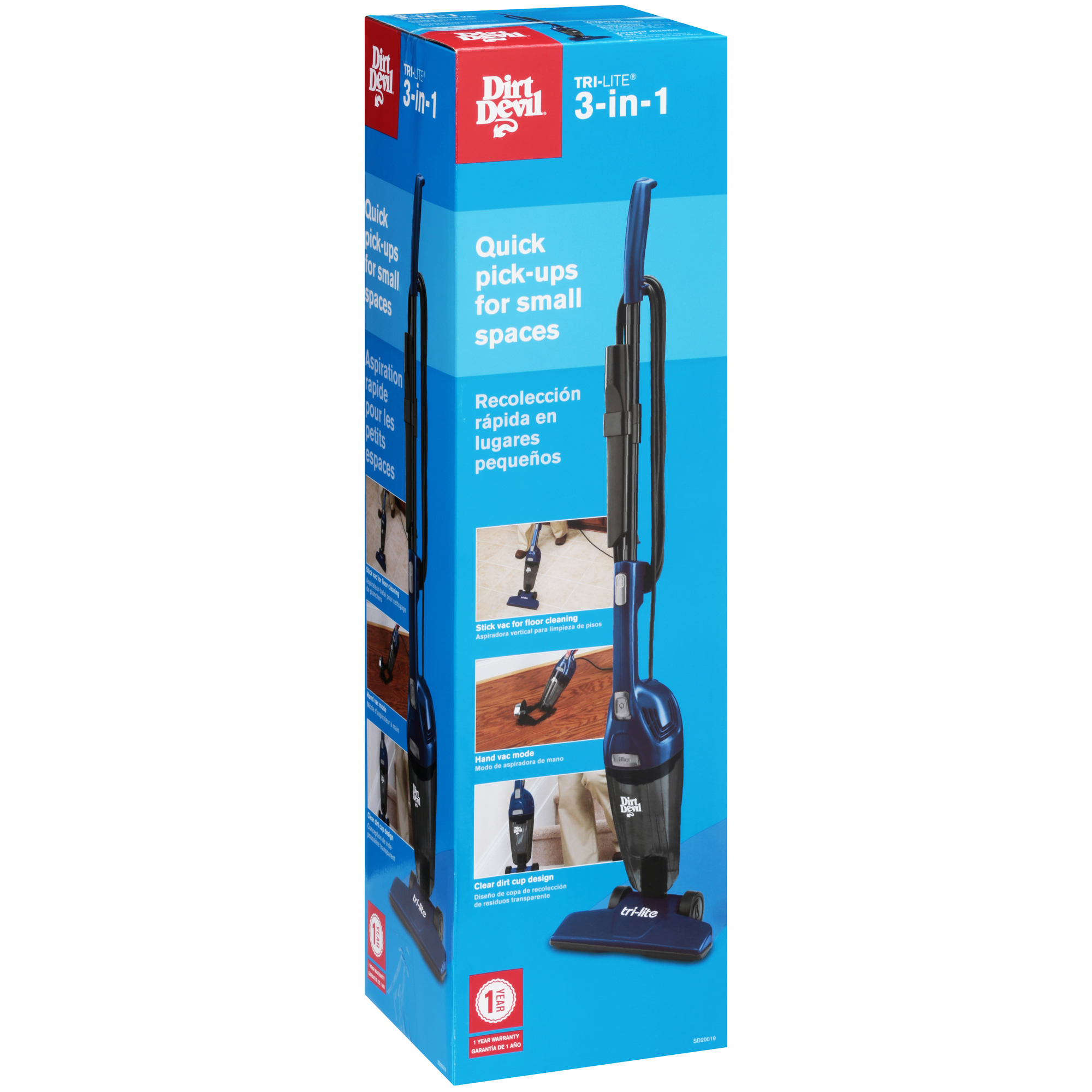 Dirt Devil Tri Lite 3 In 1 Corded Stick Vacuum Sd20015 Walmartcom