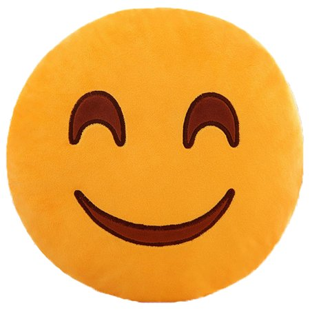 Emoji Plush Expression Pillow Sweet Smile Face Walmart