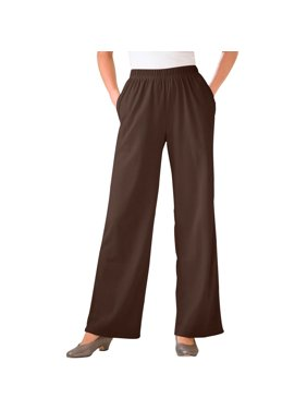 5bff2209060fe Product Image Woman Within Plus Size Tall 7-day Knit Wide Leg Pant