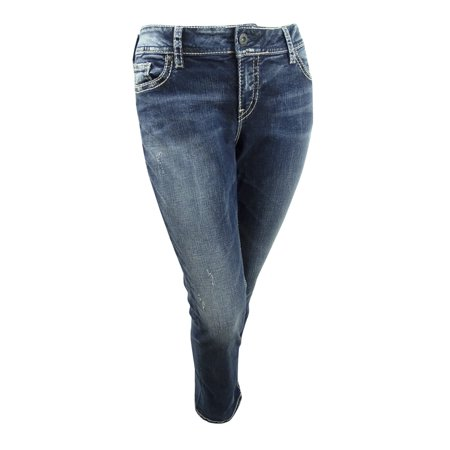 f8adad98fad8 Silver Jeans - Silver Jeans Co. Women's Plus Size Suki Straight-Leg Jeans -  Walmart.com