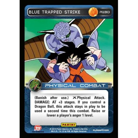 Dragon Ball Z CCG Set 1 Single Card Rare Blue Trapped Strike (Best Trap Cards)