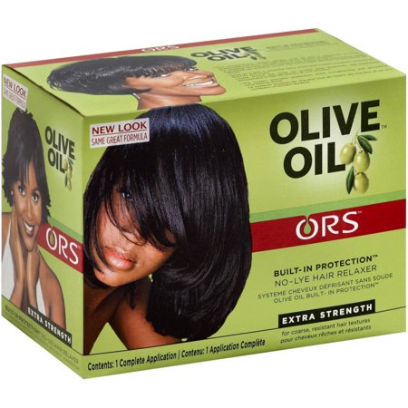 ORS Olive Oil No-Lye Relaxer Kit, Extra Strength 1 (1 Relaxer)