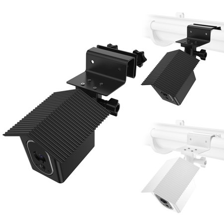 Weatherproof Gutter Mount Bracket Compatible with Arlo HD Camera with Weatherproof Protective Case Cover Greater Height Best Viewing Angle ---By (Best Rated Gutter Covers)