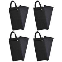 "GOGO 16"" Unfilled Sand Bag with Inner Lining, Wholesale Adjustable Sandbag for Yoga Pilates Fitness-Black-16 Packs"