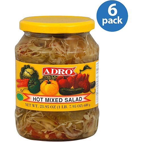 Adro Hot Mixed Salad, 23.5 Oz, (pack Of