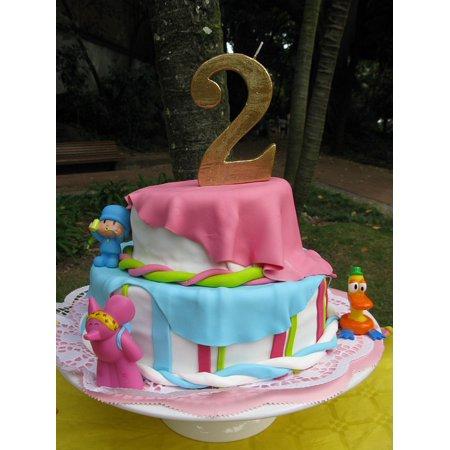 Canvas Print Party Cake Birthday Congratulations Years Pocoyo Stretched Canvas 10 x 14 - Party City Pocoyo