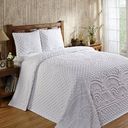 Click here for Trevor Bedspread with Shams Queen - White prices