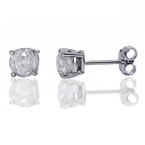 1 carat t w diamond sterling silver stud earrings walmart