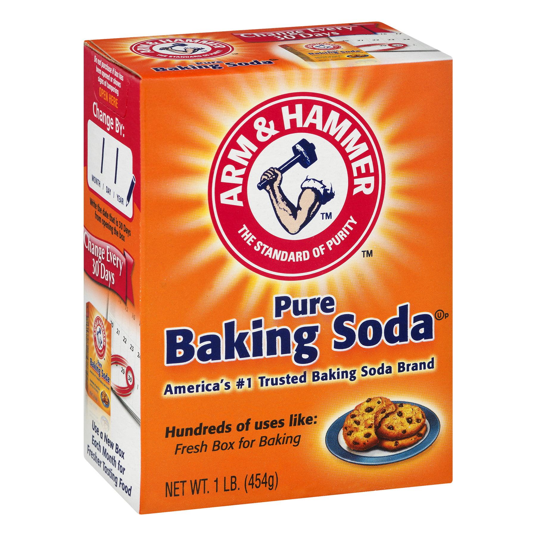 Arm & Hammer Pure Baking Soda, 1 lb - Walmart.com - Walmart.com