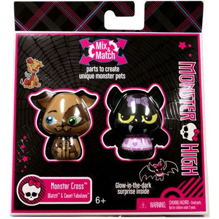 Monster High Monster Cross Watzit & Count Fabulous Figure - Monster High Series