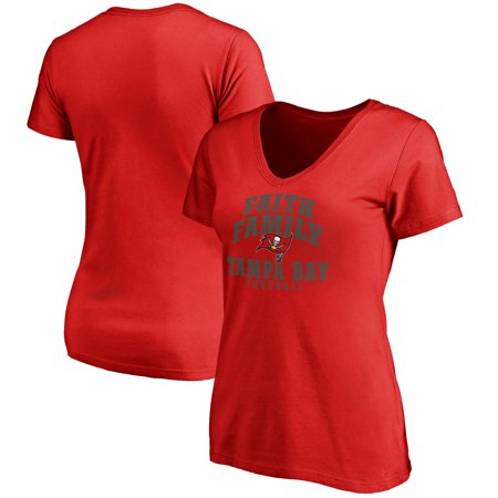 Tampa Bay Buccaneers NFL Pro Line Women's Faith Family T-Shirt - Red](Tampa Bay Nfl)