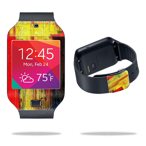 Skin Decal Wrap for Samsung Galaxy Gear 2 Neo Smart Watch cover skins sticker watch Painted Wood