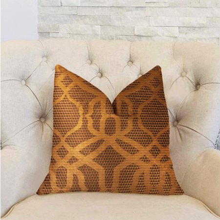 Plutus PBRA2297-2030-DP Portia Luxury Double Sided Throw Pillow, Gold & Brown - Queen - image 1 of 3