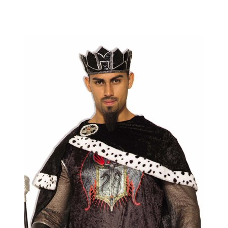 Dark Royalty Black King Mens Adult Costume Accessory Crown