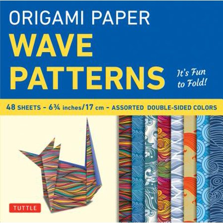 Origami Paper - Wave Patterns - 6 3/4 inch - 48 Sheets : Tuttle Origami Paper: High-Quality Origami Sheets Printed with 8 Different Designs: Instructions for 8 Projects Included 6 3/4 Inch Sexy Spike