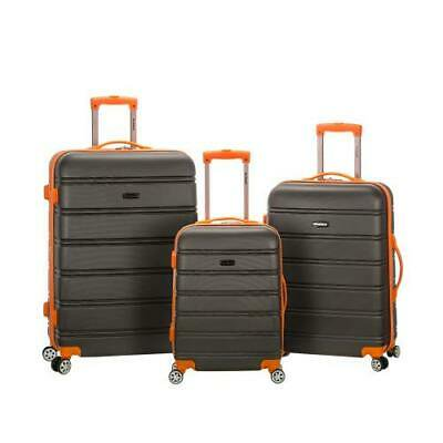 Melbourne 3 Pc Abs Luggage Set, Charcoal